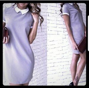3/$24 Sale! Gray size 8 Collared Shirt Dress